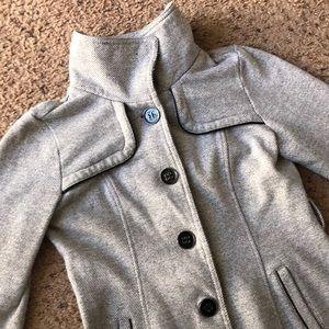 IZ Byer gray sweater pea coat, medium